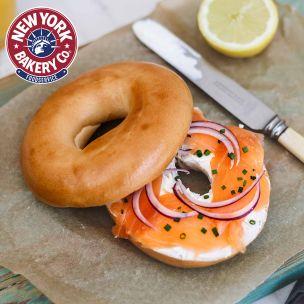 New York Style Fully Baked Plain Bagels(Sliced)-48x115g