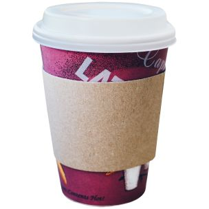 Large Brown Hot Cup Sleeve (Cup Wrap) (12oz/16oz)-1x1000