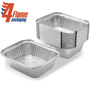 """4Flame No:2 Foil Containers (5""""x4""""x2"""")-1x1000"""