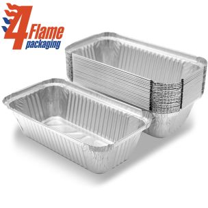 """4Flame No:6A Foil Containers (7""""x4""""x2"""")-1x500"""