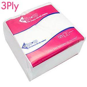 Wipe-Up Luxury White Serviettes (3Ply & 40cm) 8x125