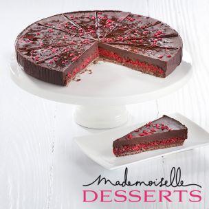 Mademoiselle Vegan Chocolate & Raspberry Tart (Pre-Portioned)-1x14