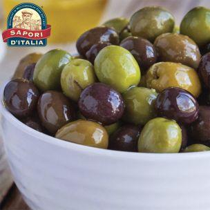 Sapori DItalia Mistoliva Mixed Marinated Pitted Olives-1x1kg