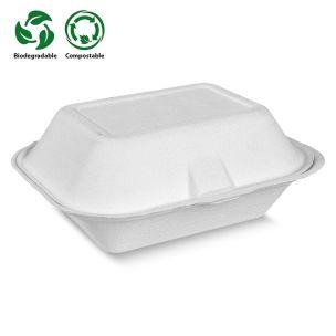 Large White Bagasse Burger Box (141x80x146mm) (HBB31) 1x500