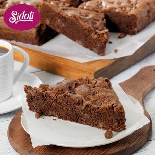 Sidoli Gluten Free Chocolate Brownie 12 Portions-1x1.1kg