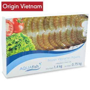 Aquafish Raw Vannamei Prawns Headless Shell On (21-25, 6x750g net) -6x1.4kg