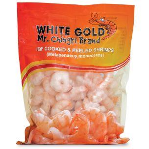 White Gold Mr. Chingri IQF C&P Prawns (91-120, 20x350g net)-20x500g
