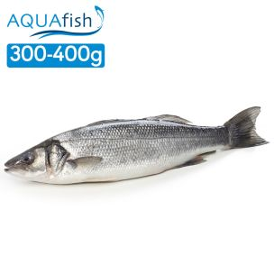 Aquafish IQF Whole Sea Bass Gilled & Gutted (300-400g)-1x1kg