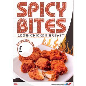 Spicy Bites 100% Chicken Breast Poster 1x1