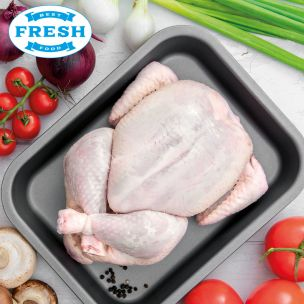 Fresh Halal Raw Whole Chickens (Without Giblets)-10x1.2kg