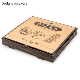 "10"" Brown Pizza Boxes (E-Flute) 1x100"