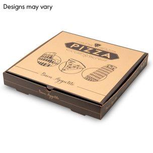 "14"" Brown Pizza Boxes(E-Flute)-1x50"