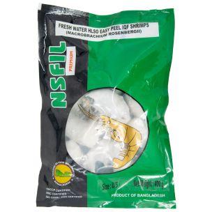 NSFIL Premium EZP, IQF Raw Headless Shell on King Prawns (U5, 400g net)-1x600g