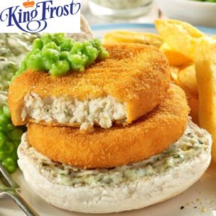 Kingfrost Fish Cakes-(4oz)-24x113g