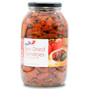 JJ Sun-Dried Tomatoes in Sunflower Oil (Glass)-1x3kg