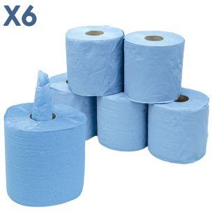 2 Ply Centrefeed Blue Rolls (17cmx100m)-1x6