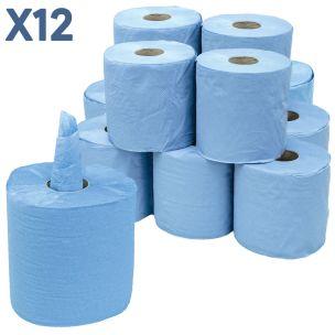2 Ply Centrefeed Blue Rolls (15.7cmx70m)-1x12