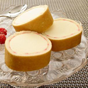 Cool Delight Vanilla & Raspberry Ripple Ice Cream Sponge Roll-1x3 (4.25L)
