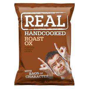 Real Handcooked Crisps Roast Ox-24x35g