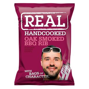 Real Handcooked Crisps Oak Smoked BBQ Rib -24x35g