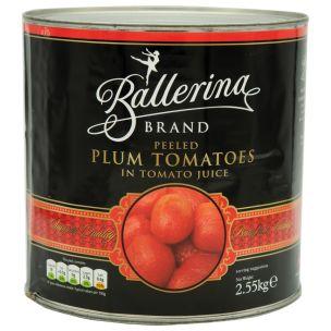 Ballerina Spanish Peeled Plum Tomatoes-6x2.5kg