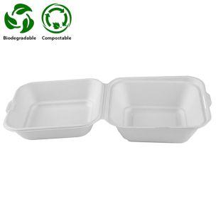 Small White Bagasse Burger Box (130x72x126mm) (HB030) 1x500
