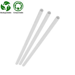 White Compostable Paper Straws (197x6x6mm) 1x250
