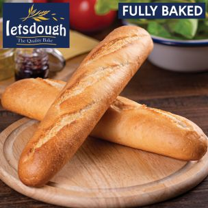 Letsdough Fully Baked Demi Baguettes (27cm)-30x125g