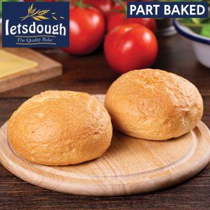 Letsdough Part Baked White Crusty Rolls-56x90g
