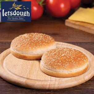 """Letsdough 4.5"""" Seeded Burger Buns 1x48"""