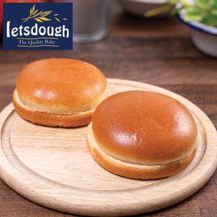 "Letsdough 4.5"" Gourmet Brioche Buns (Sliced) 1x48"