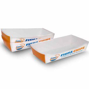 "Fish & Chips Medium Card Trays (9""x4.5""x2"")-1x250"