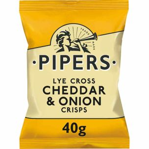 Pipers Cheddar& Onion 24x40g