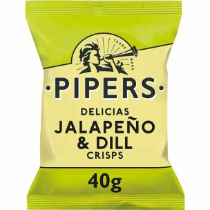 Pipers Jalapeno & Dill 24x40g