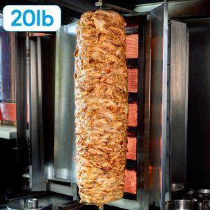 JJ Halal Chicken Leg Doner Kebab-(20lb)-1x9.07kg