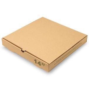 "14"" Plain Brown Pizza Boxes-1x50"