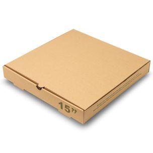 "15"" Plain Brown Pizza Boxes-1x50"