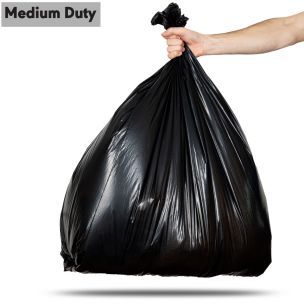 90L Black Medium Duty Refuse Sacks (max. load 10kg)-1x200