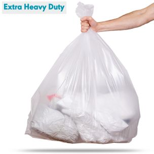140L Clear Extra Heavy Duty Compactor Sacks (max. load 20kg)-1x80