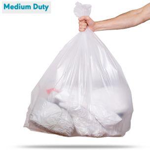 90L Clear Medium Duty Refuse Sacks (max. load 10kg)-1x200
