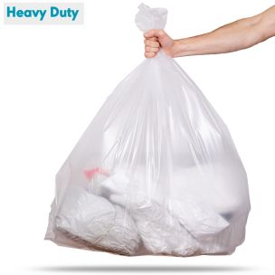 140L Clear Heavy Duty Compactor Sacks (max. load 18kg)-1x100