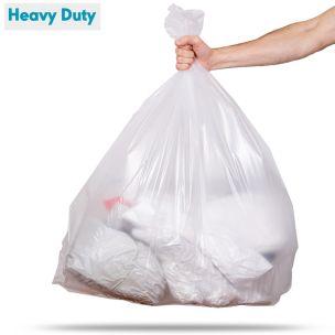 90L Clear Heavy Duty Refuse Sacks (max. load 15kg)-1x200