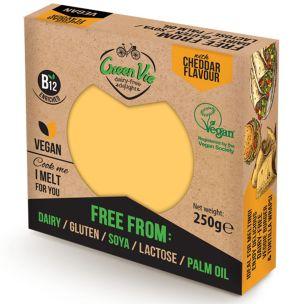 Green Vie Vegan Cheddar Cheese Flavour Block 1x250g
