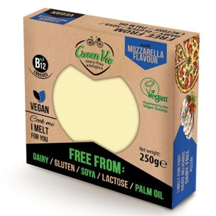 Green Vie Vegan Mozzarella Cheese Flavour Block 1x250g