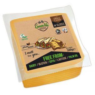 Green Vie Vegan Smoked Gouda Flavour Cheese Slices 1x500g