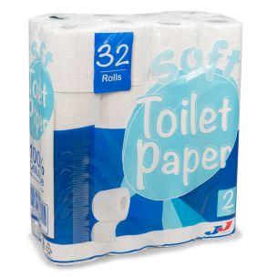 JJ Soft 2ply Toilet Rolls-1x32