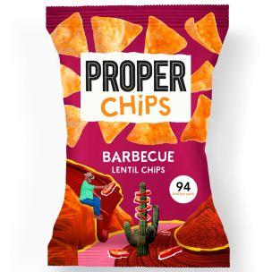 Properchips Barbecue Lentil Chips 24x20g