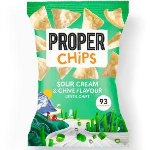 Properchips Sour Cream & Chive Lentil Chips 24x20g