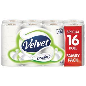 Velvet Comfort Toilet Tissue Rolls-1x16