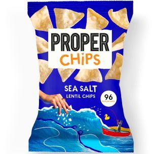 Properchips Sea Salt Lentil Chips 24x20g